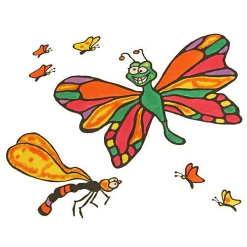 Butterfly Design Kids Pillowcase