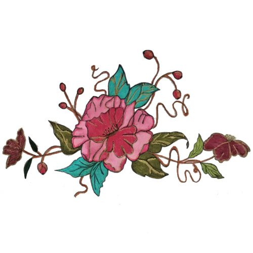 Pink Floral Pillowcase