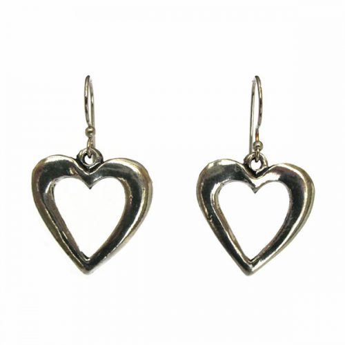 Large Open Heart Earrings