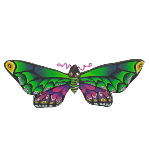 Green Multi Butterfly Pin