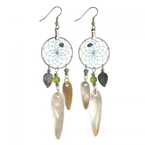 Dream Catcher Mother of Pearl Earrings