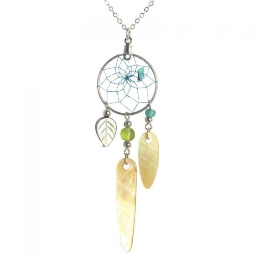 Dream Catcher Necklace - Mother of Pearl
