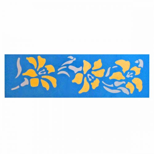 Flowering Lily Stencil