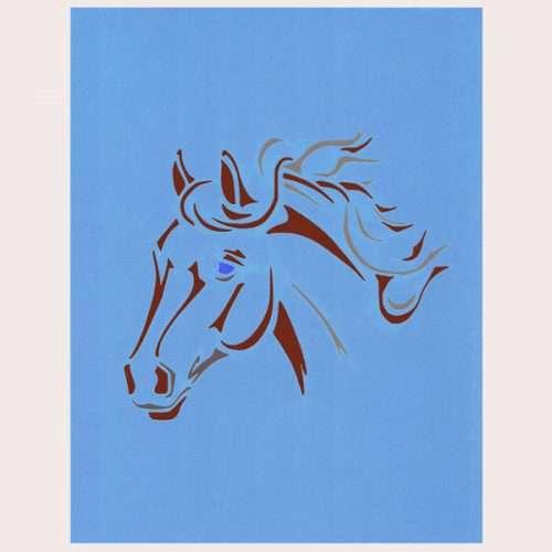 Horse's Head Stencil