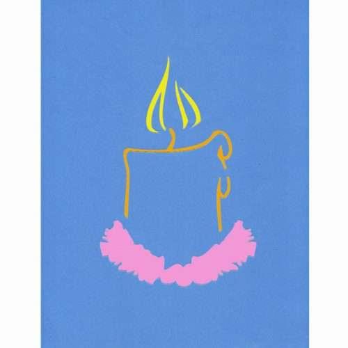 Candle Stencil