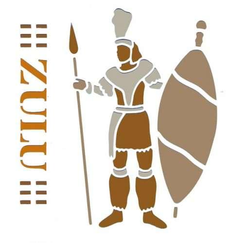 Zulu Warrior Stencil