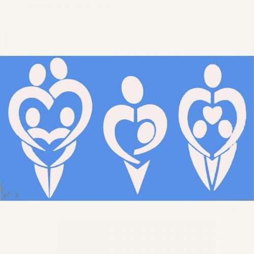 Creative Stencil - Loving Family