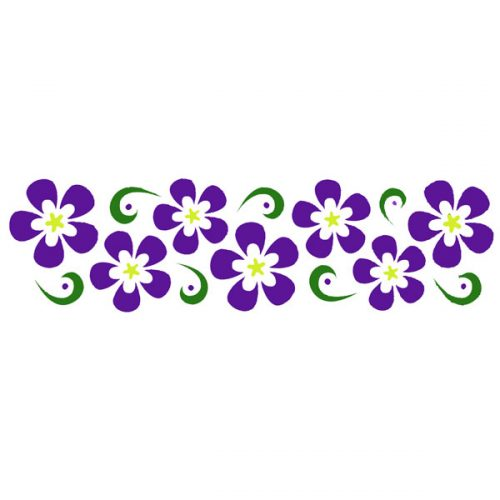 Flower Twirls Stencil