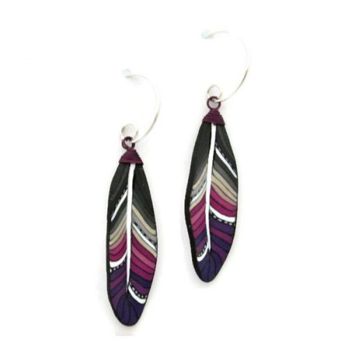 Violet Mini Feather Earrings