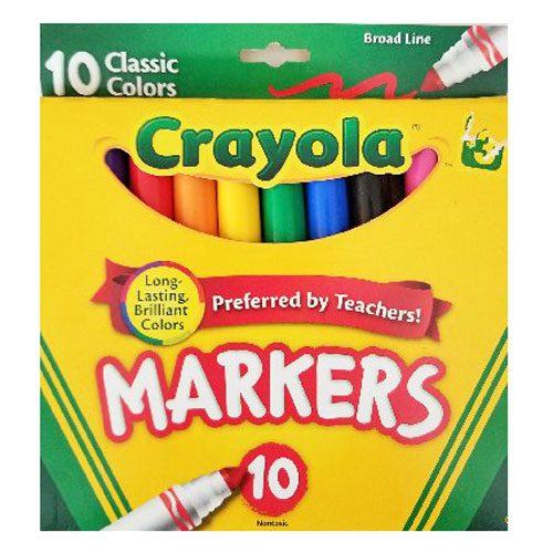 Coloured-Markers-10 Crayola