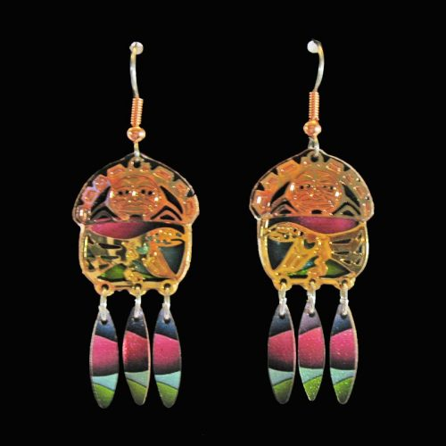 Native Raven Cut-Out Earrings