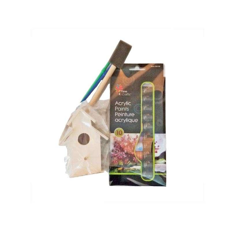 Birdhouse painting kit