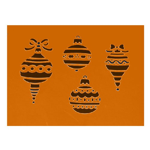 Christmas-Ornaments Stencil