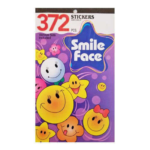 Kids Sticker Book Smile Face
